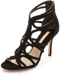 Michael Kors Norma Cage Sandals  Black - Lyst