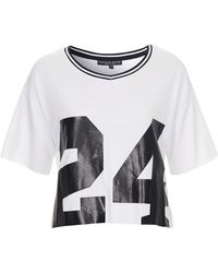 Topshop No 24 Tee  White - Lyst