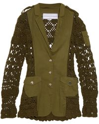 Michaela Buerger - Miss Sahara Crochet-Panel Jacket - Lyst