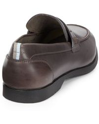 Ferragamo Space Leather Loafers - Lyst