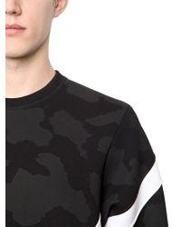 Neil Barrett | Camouflage Printed Neoprene Sweatshirt | Lyst