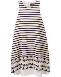 Thakoon Sleeveless Stripe Swing Dress - Lyst
