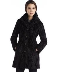 Laundry By Shelli Segal Black Faux Fur And Quilted Woven Reversible Jacket - Lyst