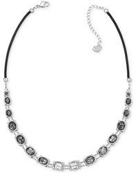 Swarovski Palladium-Plated Gray Ombre Crystal Statement Necklace - Lyst