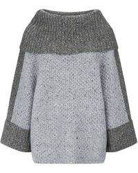 Carolina Herrera Over Sized Roll Neck Sweater - Lyst