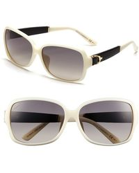 Gucci Women'S 60Mm Special Fit Sunglasses - Ivory/ Black - Lyst