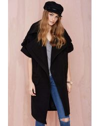Nasty Gal By Its Cover Coat black - Lyst