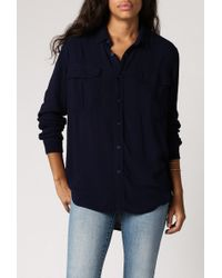 Neuw Sandwash Beat Shirt blue - Lyst