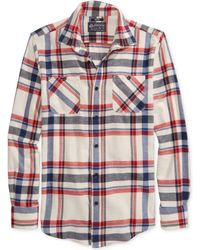American Rag Plaid Flannel Shirt - Lyst