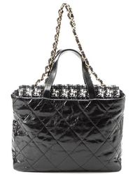 Chanel Pre-Owned Portobello Quilted 2 Way Bag - Lyst
