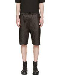 Alexandre Plokhov - Black Leather Basketball Shorts - Lyst
