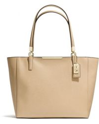 Coach Madison East/West Tote In Saffiano Leather - Lyst