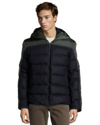 Moncler Nylon and Wool Quilted Julio Hooded Down Jacket - Lyst