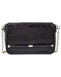 Diane von Furstenberg '440 Martini' Croc Embossed Leather Shoulder Bag - Lyst