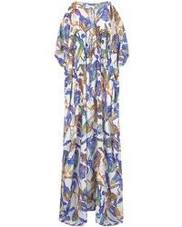 Matthew Williamson Wood Cut Long Kaftan - Lyst