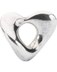 Trollbeads - Sterling Silver Soft Heart Bead Charm - Lyst