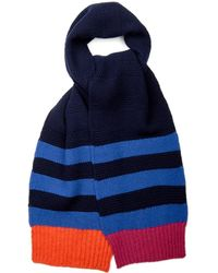 Paul Smith Striped Cable Knit Scarf - Lyst
