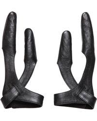 KTZ - Leather Two Finger Gloves - Lyst