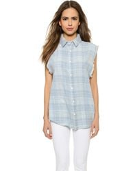 Hudson Emma Sleeveless Shirt - West Coast - Lyst