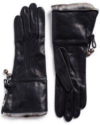 Georges Morand - Orylag Rabbit Fur Kid Leather Gloves - Lyst