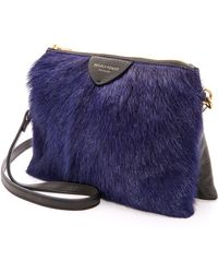 Deadly Ponies Mr Siamese Fur Cross Body Bag Cobalt - Lyst