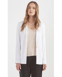 Helmut Lang Torsion Suit Blazer white - Lyst
