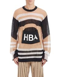 Hood By Air - Men's Logo-patch Loose-knit Jumper - Lyst