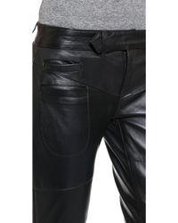 One Teaspoon - Hustle Skinny Leather Pants - Onyx - Lyst