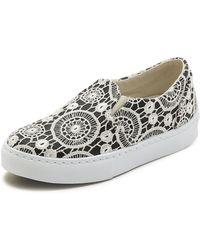 Chiara Ferragni Lace Slip On Sneakers - Black - Lyst