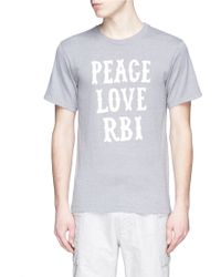 Nanamica | 'peace Love Rbi' Print Coolmax® Jersey T-shirt | Lyst