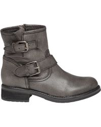 Steve Madden | Damiannn Dual-Buckled Leather Boots | Lyst