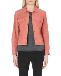Rag & Bone Suede Trucker Jacket - Lyst