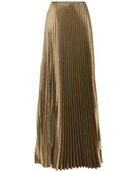 Barbara Casasola - Pleated Long Skirt - Lyst