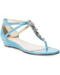 Adrienne Vittadini Veaber Wedge Thong Sandals - Lyst