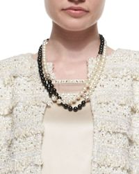 St. John - Simulated Two-Tone Pearl Necklace - Lyst