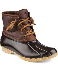 Sperry Top-Sider Saltwater Leather Boots - Lyst