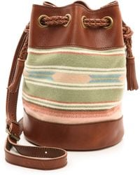 Pendleton, The Portland Collection Small Bucket Bag Agave Stripe - Lyst