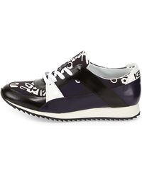 Kenzo Monster-print Lace-up Sneaker - Lyst