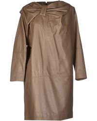 Viktor & Rolf Brown Short Dress - Lyst