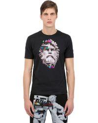 Frankie Morello Slim Fit Printed Cotton Jersey T-Shirt - Lyst