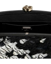 Desmo - Feathers Nappa Leather Clutch - Lyst