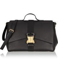 Christopher Kane Buckled Textured-leather Shoulder Bag - Lyst
