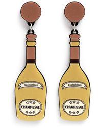 Yazbukey 'Champagne' Plexiglas Clip Earrings yellow - Lyst