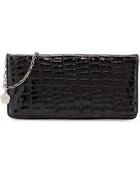 Eric Javits Bentley Croc-embossed Shoulder Bag black - Lyst