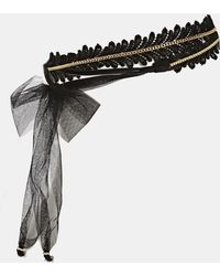Asos Limited Edition Chain Ribbon Headband - Lyst