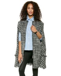 MSGM Tweed Cape Black - Lyst