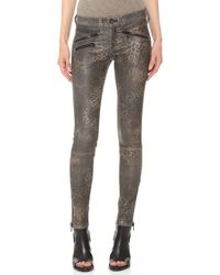 Rag & Bone Rbw 23 Leather Leopard Pants  Leopard Leather - Lyst