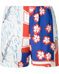 Carven Printed Shorts - Lyst