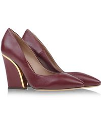 Chloé Red Closed Toe - Lyst