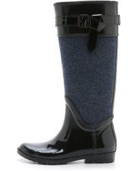 Diane von Furstenberg   Whitney Rain Boots - Charcoal   Lyst